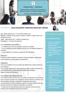 Formation organisée par Sport Connect Lyon - Comment utiliser LinkedIn pour me construire un réseau de qualité et communiquer efficacement ?