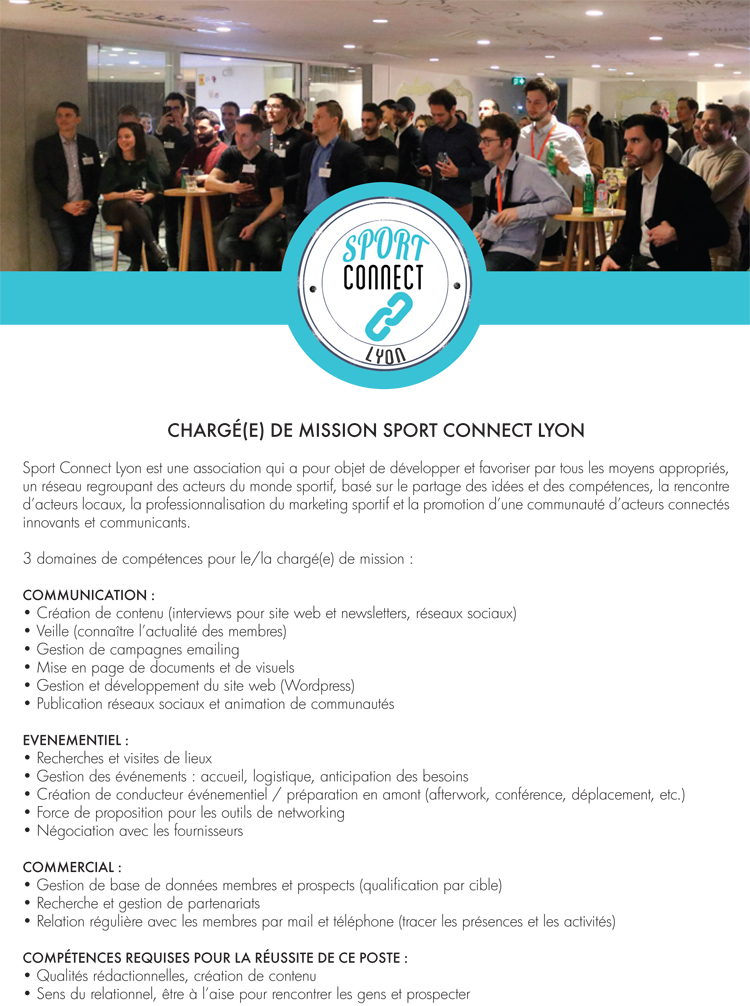 Offre stage alterné Sport Connect Lyon