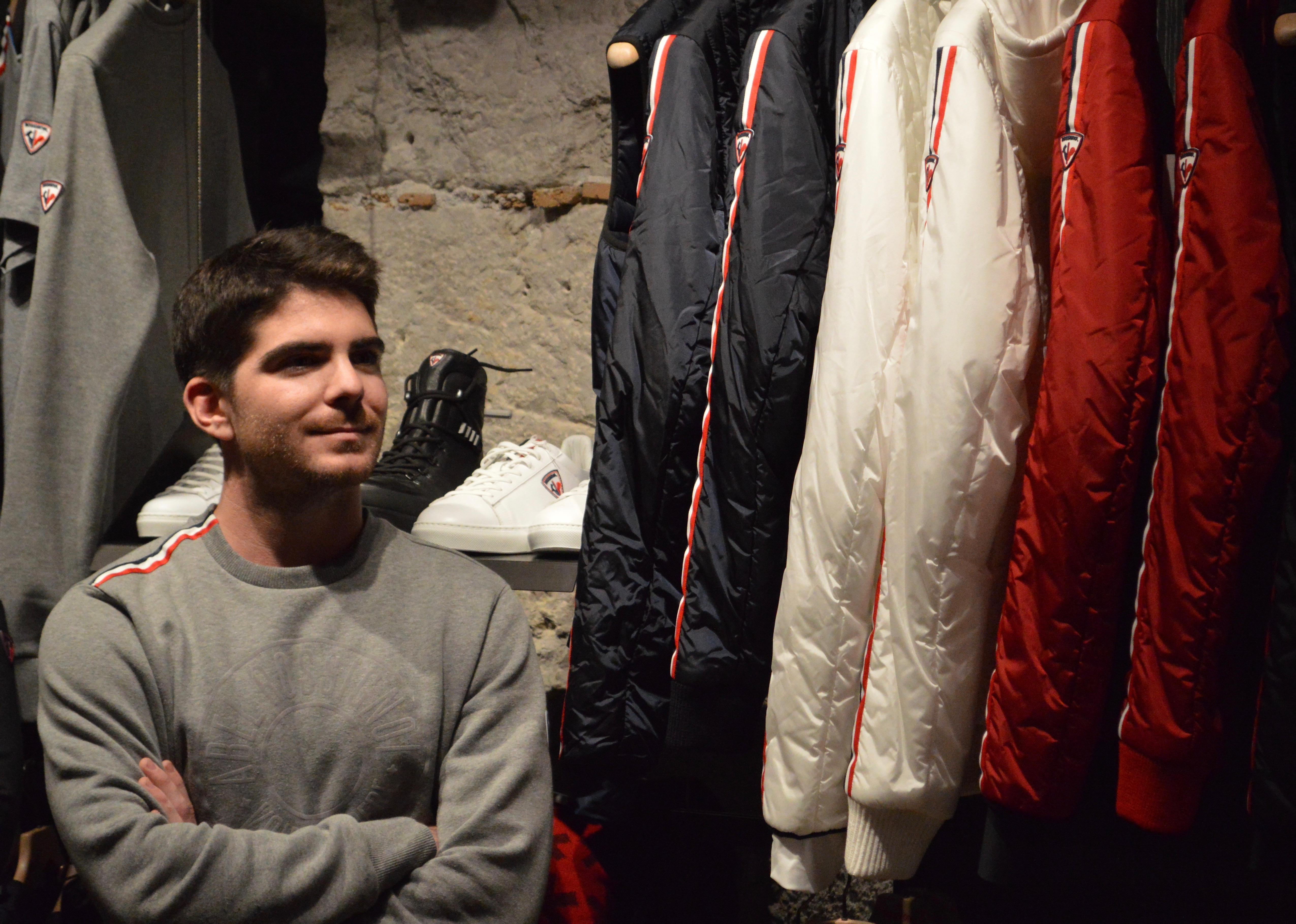 Ben Valentin lors de la soirée Sport Connect Lyon à la boutique Rossignol Apparel
