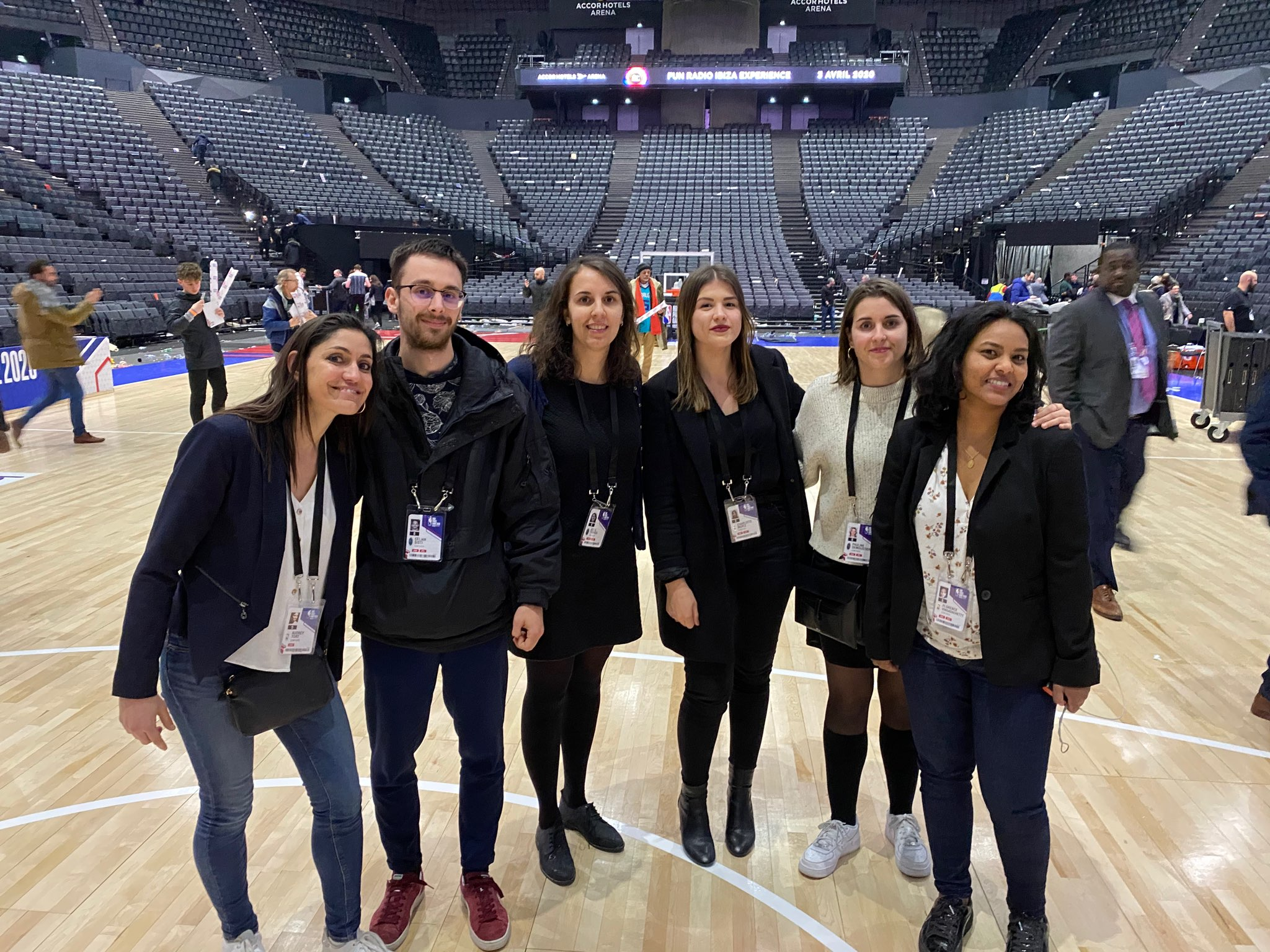 Equipe Com'over match NBA Paris 2020