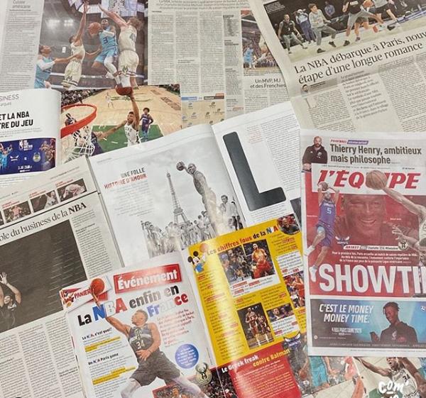 journaux match NBA Paris janvier 2020